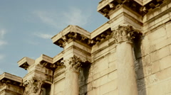 Hadrians Library at Acropolis of Athens Greece 07 Stock Footage