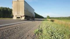 Track. Driving through a loaded truck - stock footage