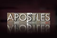Stock Photo of apostles letterpress
