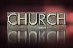 church letterpress - stock photo