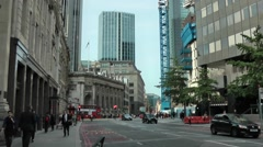 Threadneedle Street, near Bank of England in London - stock footage