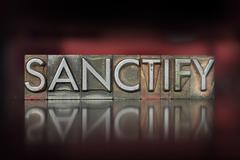 sanctify letterpress - stock photo