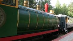 children's railway in novosibirsk. russia. - stock footage