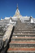 Stock Photo of Che di Phukhao Thong which was built by the Burmese King Bhueng Noreng