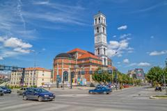 The Cathedral of Blessed Mother Teresa in Pristina - stock photo