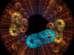 Bacteria background render Stock Illustration