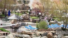 Pagosa Springs Colorado Mineral springs pan 4K 240 Stock Footage