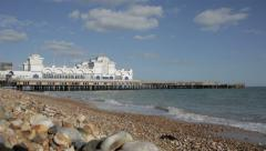 Southsea Pier, near Portsmouth Stock Footage