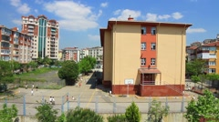 Children head back to school Stock Footage