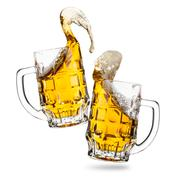 Clink glasses of beers - stock photo