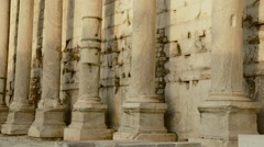 Hadrians Library at Acropolis of Athens Greece 08 Stock Footage