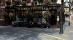 Sherlock Holmes Pub and Restaurant London - stock footage