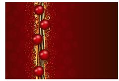 Christmas vector eps10 baubles background with gold glitter decoration Stock Illustration