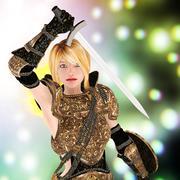fatntasy female noble warrior - stock illustration
