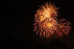 Firework in suanloung park thailand. Stock Photos