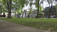 Hoxton Square London, quiet summer morning Stock Footage
