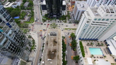 Aerial view Brickell Florida 2 Stock Footage