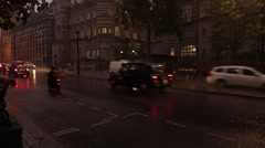 London Traffic Whilst it rains Stock Footage