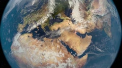 Tigris and Euphrates rivers from space without text. Stock Footage