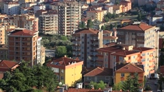Typical suburban architecture with apartment buildings at Yakacik in Istanbul Stock Footage