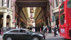 Leadenhall Market Eveing drinkers London Stock Footage