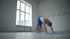 Vasisthasana Variation Stock Footage