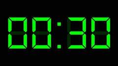 Digital clock full 24h time-lapse Stock Footage