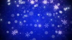 4k Christmas, new year Loop background in Blue color - stock footage