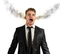 Stock Illustration of stressed businessman