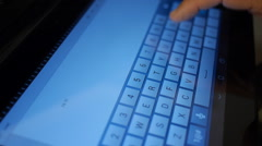 Hand typing email in ipad-tablet I love you Stock Footage