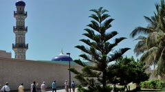Salalah Arabia Orient Oman sultanate 038 sultan palace exterior view Stock Footage