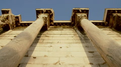 Hadrians Library at Acropolis of Athens Greece 09 Stock Footage