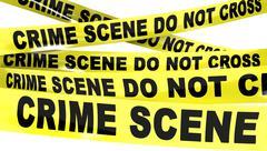 crime scene do not cross tape - stock illustration