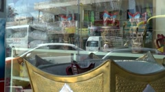 Salalah Arabia Orient Oman sultanate 043 censer in front of shop window Stock Footage