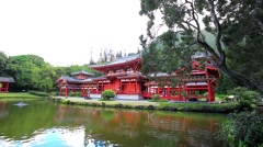 The Byodo-In Temple on Oahu, Hawaii, USA Stock Footage