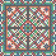 decorative knit tile - stock illustration