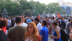 Stock Video Footage of Taksim Gezi Park in Istanbul, Turkey