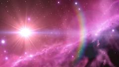 Comet Space Travel HD Footage Stock Footage