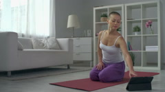 Basic Yoga Poses Stock Footage