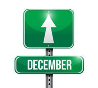 Stock Illustration of december sign illustration design