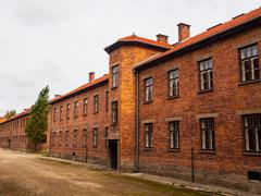 brick barracks - stock photo