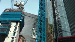 Street To Cranes Brookfield London Stock Footage