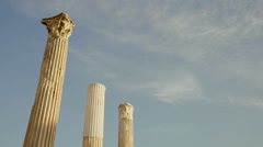 Hadrians Library at Acropolis of Athens Greece 011 Stock Footage
