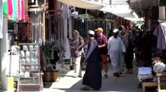 Salalah Arabia Orient Oman sultanate 051 - typical Omani bazaar street Stock Footage
