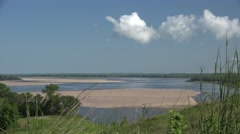 Sandbar on the Missouri River in the Great Plains Stock Footage