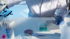 Scientific experiment - stock footage