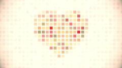 Pixel heart seamless loop animation Stock Footage