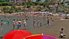 Bathers at Cristo beach,  Stock Footage