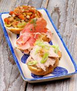 tapas bruschetta - stock photo