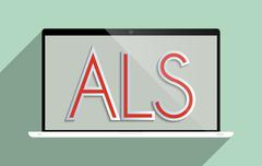 Als amyotrophic lateral sclerosis Stock Illustration